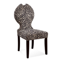 Bassett Mirror - Bassett Mirror Raja Parsons Chair, Zebra Print (Set of 2) - Raja Parsons Chair, Zebra Print, Set of 2