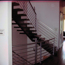 Contemporary Staircase by Jarrod Smart Construction