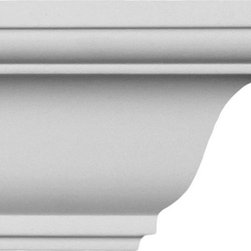 uDecor - CM-1157 Crown Molding - Crown molding is manufactured with a dense architectural polyurethane compound (not Styrofoam) that allows it to be semi-flexible and 100% waterproof. This molding is delivered pre-primed for paint. It is installed with architectural adhesive and/or finish nails. It can also be finished with caulk, spackle and your choice of paint, just like wood or MDF. A major advantage of polyurethane is that it will not expand, constrict or warp over time with changes in temperature or humidity. It's safe to install in rooms with the presence of moisture like bathrooms and kitchens. This product will not encourage the growth of mold or mildew, and it will never rot.