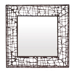 Hive - Hive C-U C-ME Square Mirror - Square mirrorwithhandwoven frame, dipped in salago fiber pulp over powdercoated metal structure. Manufactured by Hive. Price includes shipping to the USA.