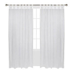 Outdoor Decor Escape Hook and Loop Indoor-Outdoor Window Panel, White - I know it's just one more thing to wash, but I think white floor-length curtains fluttering in the evening breeze make an enclosed porch all the cozier. These ones are affordable and can be tossed in the wash.