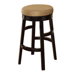 Armen Living - Armen Living Halo Backless Bar Stool - Brown - 30 in. - LC4050BABR30 - Shop for Stools from Hayneedle.com! If you like the armless backless style look no more. The Armen Living Halo Backless Swivel Bar Stool in Brown is a simple design with plenty of style and fuctionality. Base and legs are wood with a black finish. Round swivel seat has brown bicast leather upholstery. Thick circular footrest plus feet protectors for your floor. Stool dimensions: 20W x 20 x 30H inches seat height: 30 inches. About Armen LivingImagine furniture without limits - youthful robust refined exuding self-expression at every angle. These are the tenets Armen Living's designers abide by when creating their modern furniture collections. Building on more than 30 years of industry experience Armen Living combines functional versatility and expert craftsmanship into their dramatic furniture styles all offered at price points fit for discriminating budgets. Product categories include bar stools club chairs dining tables ottomans sofas and more. Armen Living is based in Sun Valley Calif.