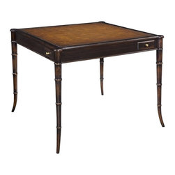 EuroLux Home - New Game Table Solid Acacia Blackened - Product Details