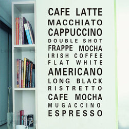 ColorfulHall Co., LTD - Kitchen Wall Stickers Coffee Late - Kitchen Wall Stickers Coffee Late