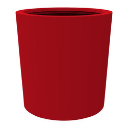 Vienna Planter - Red, Large - Add a touch of elegance to your patio with the Monaco Planter. Featuring vivid custom coloring, this garden container will help transform any indoor/outdoor space. This modern patioplanter is made from a non-toxic food grade polymer based fiberglass resin; it will never rot, mildew, split, cup or warp. It can brave brutal summers and harsh winters without diminishing in appearance. These attributes are backed up by a lifetime warranty against corrosion. Whether exposed to salt water, or the everyday wear & tear from home or commercial use, its gel coat maintains a beautiful finish no matter how tough the conditions get.