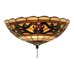Elk Lighting - Tiffany Buckingham 2-Light Ceiling Mount In Vintage Antique - The Tiffany Buckingham Collection sports our popular iron hardware and has a new stained glass design for a fashion-forward aesthetic.