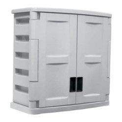 Suncast Utility 2 Door Wall Cabinet with Adjustable Shelf ...