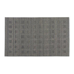 Uttermost - Uttermost Palata 8 x 10 Rug - Gray 73050-8 - Hand Woven Undyed Wools With Raised Details.