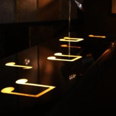 modern bar tables by Architectural Justice