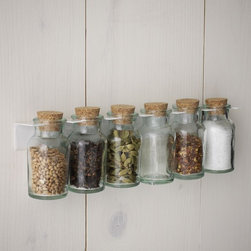 Hanging Spice Rack - I find this rack so sweet and just perfect for under-cabinet storage.