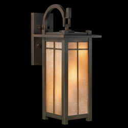 Fine Art Lamps - Capistrano Outdoor Wall Mount - Capistrano Outdoor Wall Mount features a porcelain shade with a patina bronze finish and in a 1-light, 2-light, 3-light or 4-light version. Either (1), (2), (3) or (4) 60-watt, 120 volt A19 medium base incandescent bulbs are required, but not included. Dimensions: 1-light: 7W x 13H x 9D. 2-light: 10W x 25H x 16D. 3-light: 13W x 30H x 17D. 4-light: 15W x 36H x 20D.