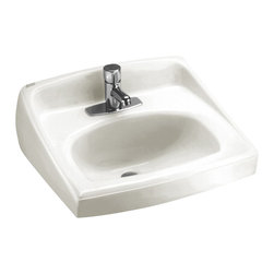 """American Standard - Lucerne 20.5"""" Wall Mounted Bathroom Sink with Single Faucet Hole in White - American Standard 0356.421.020 Lucerne 20.5"""" Wall Mounted Bathroom Sink with Single Faucet Hole in White"""