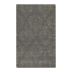 Uttermost - Uttermost Paris 8 x 10 Rug - Blue Gray 73033-8 - Dark Blue Gray Wool And Viscose Blend Accented With Taupe Details.