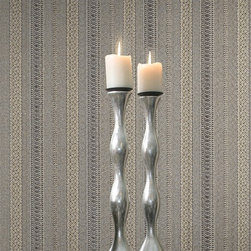 Giulia Grey Brocade Ribbon Wallpaper - A flawlessly designed brocade ribbon texture entices into your space a fine Italian luxury. Stunningly decadent, this enchanting grey wallpaper, dusted in charcoal and gold, invites into your home an air of dignity and style.