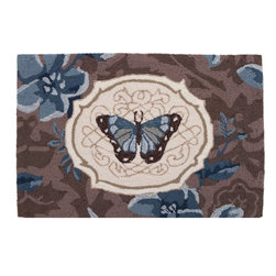Homefires - Butterfly Bliss Rug - Flight patterns: You'll never have to wing it when you need a warm and cozy rug for your bedside, doorway or bath. This rug is also machine washable, so keeping it clean is a breeze.