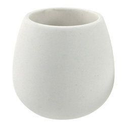 Gedy - Toothbrush Holder Made From Thermoplastic Resins and Stone In White Finish - A quality complimentary piece.