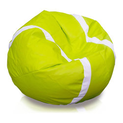 Turbo BeanBags - Beanbag Tennis, Lime And White, Filled Bag - The Tennis Ball Beanbag is one of the newest products from Turbo BeanBags. Because of its size it's a comfortable chair to sit for a child or make a great addition to a children's room decor. An amazing gift for kids by its innovative design.