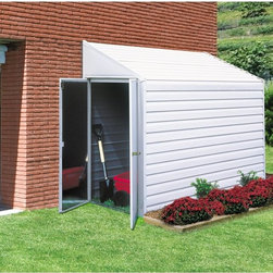 Arrow Shed - Arrow Shed Yardsaver 4 x 7 ft. Shed - YS47 - Shop for Sheds and Storage from Hayneedle.com! The Arrow Shed Yardsaver 4 x 7 ft. Shed is a versatile and easy-to-assembly storage solution for any home. This spacious lean-to steel storage shed is crafted from durable galvanized steel for an extended life. The 4 x 7 foot storage shed offers 154 cubic feet of storage space ideal for long-handled lawn and garden tools pool equipment bicycles and more. For comfortably use the interior height peaks at seven feet. The wood embossed steel panels make an attractive addition to any outdoor space that easily blends with any home.For easy assembly all parts arrive pre-cut and pre-drilled; all you have to do is assemble. To facilitate the process the steel pieces feature a drop-in design that assembles easily. For your convenience the door may be placed on either of the four-foot sides of the structure. Though referred to as a lean-to shed this storage shed stands on its own and does not require an addition structure for support Assembly is a weekend project for one or two people.Additional Features:Door dimensions: 38.5W x 60.25H inchesExterior dimensions: 49W x 79.75D x 82H inchesInterior dimensions: 47.75W x 77.5D x 81.25H inchesSize: 4 x 7 ft.About Arrow Storage ProductsEstablished in 1962 as Arrow Group Industries Arrow Storage Products is now the worldwide leader in designing manufacturing and distributing steel storage sheds that are easily assembled from a kit. Arrow Storage Products hasn't garnered its 13 million customers by resting on its laurels either. The company takes great pride in having listened to their customers over the years to develop quality products that meet people's storage needs. From athletic equipment to holiday decorations from tools to recreational vehicles Arrow Storage Products prides itself on providing quality USA-built structures that offer storage solutions. Available in a wide variety of sizes models finishes and colors - Arrow's products are constructed with electro-galvanized steel to be more affordable durable attractive and easy to assemble.