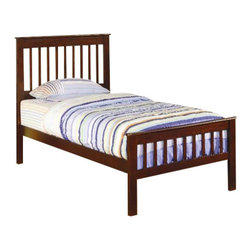 Coaster - Coaster Parker Slat 5 Piece Bedroom In Deep Dark Cappuccino Finish - Coaster - Kids Bedroom Sets - 400290T5PKG - Coaster Parker Twin Slat Bed in Deep Dark Cappuccino Finish (included quantity: 1) This lovely twin size bed will be a nice focal point in the youth bedroom in your home. The cool casual piece has a simple style that will blend easily with any decor, finished in a rich Cappuccino. This durable pine bed will be a long time favorite, with a high headboard and lower profile footboard featuring simple vertical slats. Straight block legs and smooth side tails complete the timeless look of this bed. Add the optional under bed storage unit beneath this bed to help you make the most of your space.