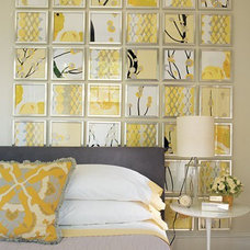 DIY's with Frames, Mirrors and Wall Hangings / Easy Chic With Yellow And Gray