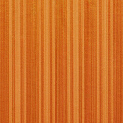 Orange Two Toned Stripe Metallic Sheen Upholstery Fabric By The Yard - This multipurpose fabric is great for residential upholstery, bedding and drapery. This material is woven for enhanced elegance. The sheen of this material varies depending on the light for a unique appearance.