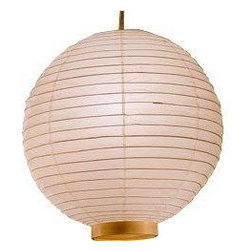 Maru Bamboo Lanterns - Cast soft light filtered through white rice paper skin to warm any child's room or playroom. The sphere shape evokes feelings of calmness with its soft lines and gold-color wire accents.