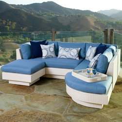 Portofino Comfort Moda 4pc Sectional in Chalk - The Portofino Comfort Moda 4pc Sectional is a versatile and comfortable set with a number of configuration options.This luxurious modular sectional can be configured as a seating set, over-sized daybed, conversation set or extended sofa.