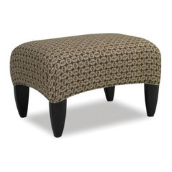 Sam Moore Picasso Ottoman - Cocoa - The tight top and handsome pattern on the Sam Moore Picasso Ottoman - Cocoa make it a stylish and functional piece of furniture. This ottoman has a richly colored pattern upholstery, shaped wood legs in java, plus, it doubles as a comfy footstool or extra seat.About Sam MooreSince 1940, Sam Moore's hand-crafted upholstered furniture has offered extraordinary quality, comfort, and style. This Bedford, Virginia-based company proudly crafts its products right here in the USA. From classic to transitional to contemporary styles, Sam Moore takes time with every detail, making sure each piece is something you'll appreciate in your home.