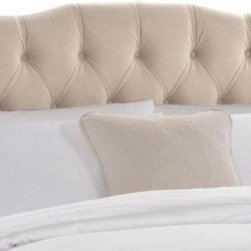 Tufted Princess Headboard - This lovely headboard is tufted and soft, providing a wonderful place to prop up the pillows and get cozy.