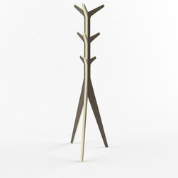 Branches Coat Tree - This savvy coat rack adds a rustic modern touch to any room. Made from sustainably harvested plywood, its sleek yet sharp form maintains a sturdy balance for all of your coats and scarves.