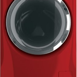 GE - GFWR4805FRR RightHeight 4.8 Cu. Ft. Front Load Washer  with Quiet-By-Design Soun - 48 Cu Ft Front Load Washer with Quiet-By-Design Sound Insulation Stainless Steel Drum and Energy Star in Red