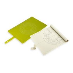 Joseph Joseph - Joseph Joseph Roll Up Silicone Pastry Mat - Prepare all your pastry and icing on this convenient non-slip mat. It provides a hygienic, non-slip surface for rolling out dough and following recipes.