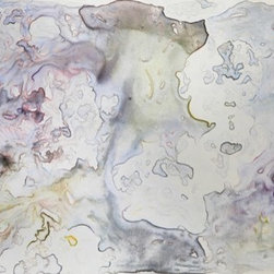 """""""No Resemblance"""" (Original) By Anna Prezioso - This Piece Was The Final In A Series Of Watercolor Paintings All Containing The Same Subject Matter, But Each One In A Varied Stage Of Distortion.  In The End, Only A Few Lines And Shapes Of The Original Subject Remain Among A Sea Of Change."""