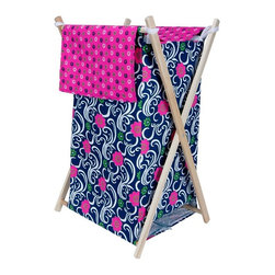 Trend Lab - Trend Lab Baby Lucy Hamper Set - 21560 - Shop for Hampers from Hayneedle.com! Get organized in a matching and stylish way with the Trend Lab Baby Lucy Hamper Set. This handy laundry hamper features a swirling floral print body and mini floral print outer flap that easily attaches to the collapsible pine wood frame. Plus its machine-washable inner mesh liner is removable which makes doing laundry a cinch.About Trend LabFormed in 2001 in Minnesota Trend Lab is a privately held company proudly owned by women. Rapid growth in the past five years has put Trend Lab products on the shelves of major retailers and the company continues to develop thoroughly tested high-quality baby and children's bedding decor and other items. Trend Lab continues to inspire and provide its customers with stylish products for little ones. From bedding to cribs and everything in between Trend Lab is the right choice for your children.