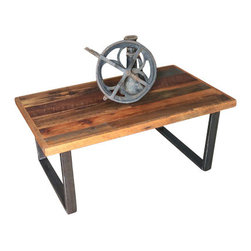 what WE make - Reclaimed Wood Patchwork Coffee Table - . Reclaimed wood from midwestern barns
