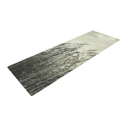 """KESS InHouse - Iris Lehnhardt """"Summer Grasses"""" Neutral Gray Yoga Mat - Release your inner yogi in style with these artistically unique yoga exercise mats. These mats allow you to stretch and pose freely and comfortably as they are 72"""" x 24""""! Made of a durable, textured non-slip backing foam, these 1/4"""" thick mats will cushion your body to allow you to child's pose and more during your workout routine. Carry your lightweight mat in a polyester blend bag with an adjustable shoulder strap for easy travel and clean up. These yoga exercise mats can be cleaned with a swipe of a towel and mild soap."""