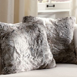 Faux Fur Pillow Cover, Gray - Add instant warmth to your sofa with this plush, soft and luxurious pillow.