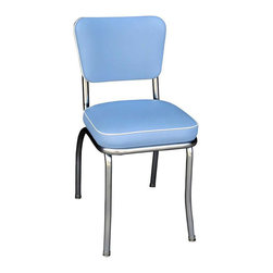 Richardson Seating - Richardson Seating Retro 1950's Diner Side Chair Bristol in Blue - Richardson Seating - Dining Chairs - 4210BBL