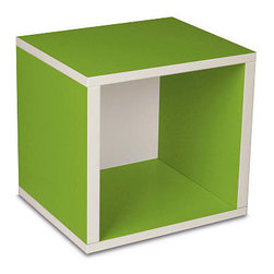 Way Basics Eco-Friendly Storage Cube, Green - I love these modular storage cubes! Use these to store toys, books and more. They're 100-percent non-toxic and made completely from sustainable materials. Purchase more than one to stack them up.