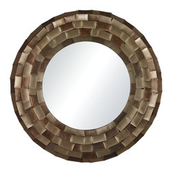 Sterling Industries - Sterling Industries 138-060 South Sunrise-Large Mirror In Plated Metal Tile Fram - Mirror (1)