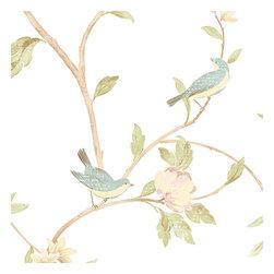Floral Vine Birds - HM26326 - Collection:Rose Garden