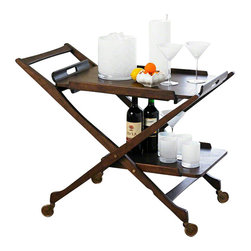 Global Views - Hemingway Bar Cart - Hemingway Bar cart