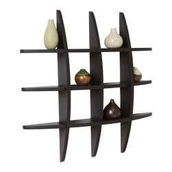"Welland - Welland Lexington Globe Cross Display Wall Shelf, Espresso - This cross display shelf is made from pine wood. You can hang it to create library, display and highlight a favorite collectible. Package Included: (1) Lexington Globe Wall Shelf, Size: 29.5H"" x 4.25""D x 29.5""L"