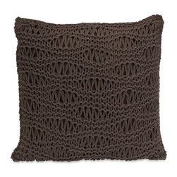 Imax Satoria Chocolate Crochet Pillow - Comforting style. The Imax Satoria Chocolate Crochet Pillow was inspired by two of your favorites -- that great chunky knit sweater and rich, dark chocolate. Its square, decorative crochet design is made of 100% cotton in a dark chocolate color. The polyester fill adds sumptuous softness. About IMAXWhat began as a small company importing copper flower containers in 1984 by Al and Faye Bulak has developed into one of the top U.S. import companies serving the At Home market today. IMAX now provides home and garden accessories imported from twelve countries around the world, housed in a 500,000 square foot distribution center. Additional sourcing, product development and showroom facilities in the USA, India and China make IMAX a true global source. They're dedicated to providing products designed to meet your needs. This is achieved through a design and product development team that pushes creativity, taste and fashion trends - layering styles, periods, textures, and regions of the world - to create a visually delightful and meaningful environment. At IMAX, they believe style, integrity, and great design can make living easier.