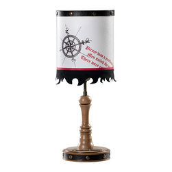 Cilek - Pirate Table Lamp - A true pirate is a good sailor and never loses his course. The pole star is onboard the pirate ship, the moon keeps company over it at all times, whether its overcast or its sunny, the route ahead is always illuminated. Pick your beacon light; master the course you're on, show who you are with everything you have. Let the space you're in, the room you live in manifests you. A desk, a closet or even a lamp hanging from the ceiling should come to life for telling the tales of your voyages... The one with the best stories never need to search for listeners.