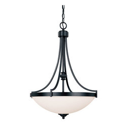 Capital Lighting - Capital Lighting 4027 3 Light Pendant from the Towne & Country Collection - Capital Lighting 4027 Towne & Country Collection 3 Light PendantElegant and stylish this 3 light pendant will transform any room into a vibrant pleasing atmosphere. The decorative bowl shaped shade provides clean and simple look for the perfect finishing touch.Features: