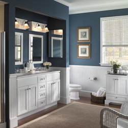 Centennial Collection By Bertch - Available at SHOWROOM INC. 923 E. Roosevelt Rd. Lombard, IL 630 705 0150 Bertch vanities come in several different finishes and sizes.