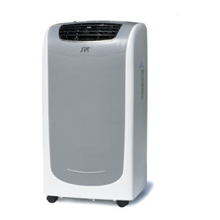 Sunpentown - 11,000 BTU Dual-Hose System Portable Air Conditioner - New 11,000 BTU Dual Hose System with Self-Evaporating Technology!