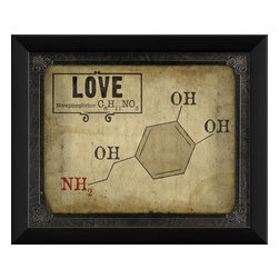 The Artwork Factory - Love Molecule Framed Artwork - Ready-to-Hang, 100% Made in the USA, museum quality framed artwork