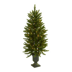 Nearly Natural - Nearly Natural 4' Christmas Tree with Urn and Clear Lights - Here's a piece that's destined to become your favorite holiday decoration. This faux Christmas tree stands 4' high in its decorative urn, and comes with 100 clear lights. The best part is the lights will stay on if one burns out, ensuring this tree will light your holiday spirit for years to come. Perfect for home or office holiday decorating, it makes a great gift as well.